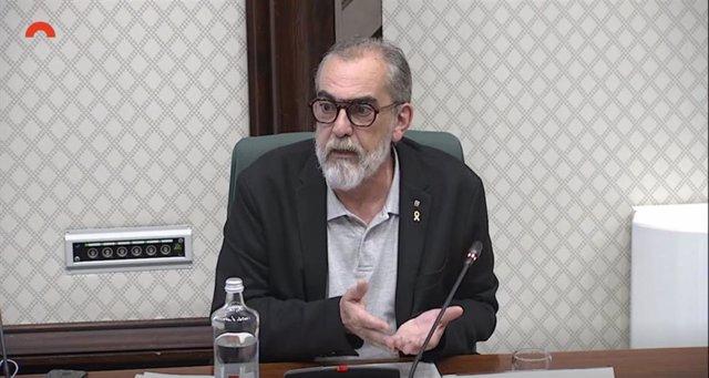 El viceconseller de la Generalitat, Pau Villòria, en comisión parlamentaria.
