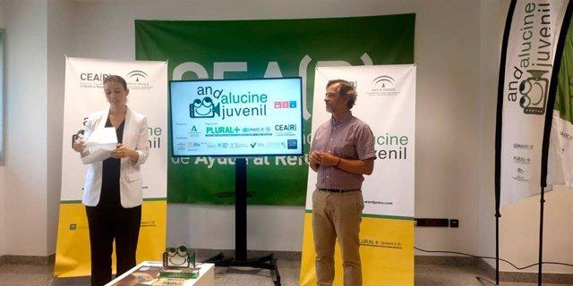 Gala del II Festival Andalucine Juvenil, celebrada de forma virtual por el Covid, en la que ha participado la directora general de Coordinación de Políticas Migratorias de la Junta, María del Mar Ahumada.