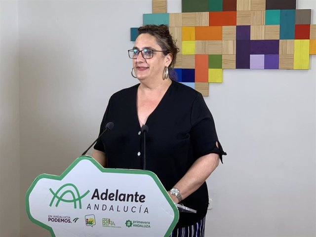 La portavoz adjunta del grupo parlamentario de Adelante Andalucía, Ángela Aguilera, en una foto de archivo