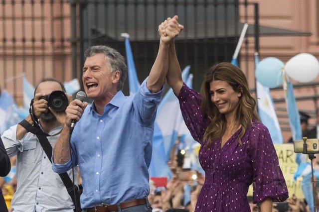 Mauricio Macri y su mujer, Juliana Awada