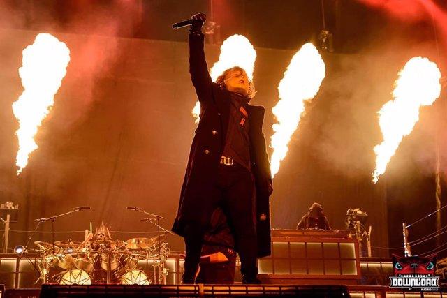 Corey Taylor de Slipknot durante su actuación en Download Festival Madrid