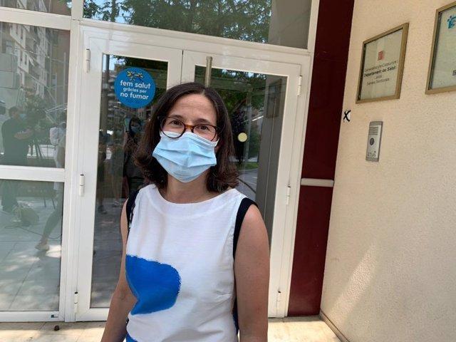La gerente de la Región Sanitaria de Lleida y de la Región sanitaria Alt Pirineu y Aran, Divina Farreny.