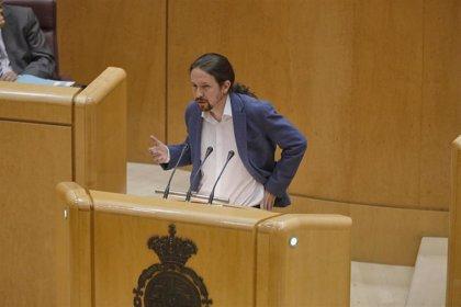 """Iglesias a Vox: """"Jamás les hemos escuchado una sola crítica a entregar residencias a la gestión de corruptos"""""""