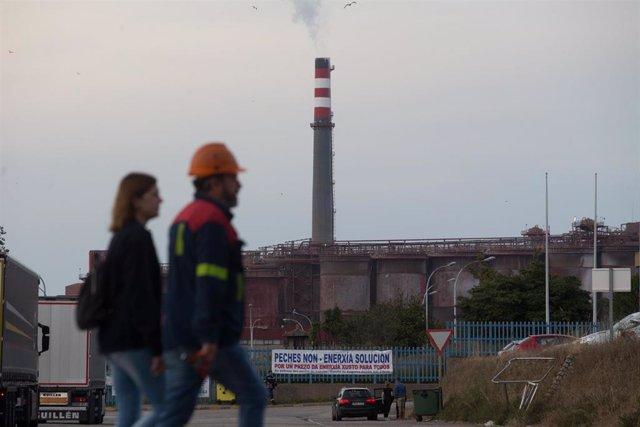 Imagen de la fábrica de Alcoa en San Cibrao (Lugo/Galicia/España) a 20 de junio de 2020.