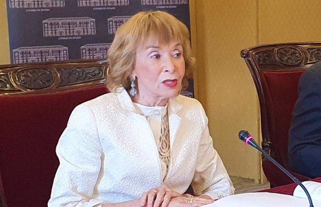 La presidenta del Consejo de Estado, María Teresa Fernández de la Vega
