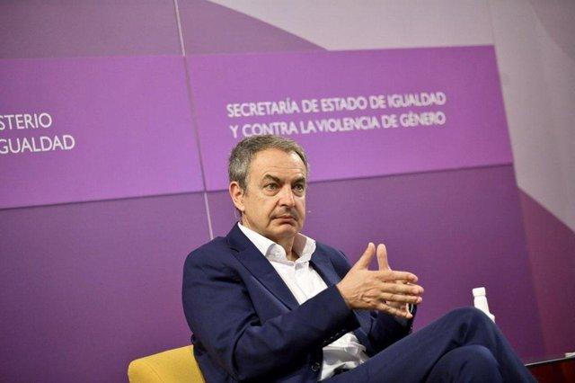 El expresidente José Luis Rodríguez Zapatero en el acto institucional por el 15 aniversario de la ley de matrimonio igualitario