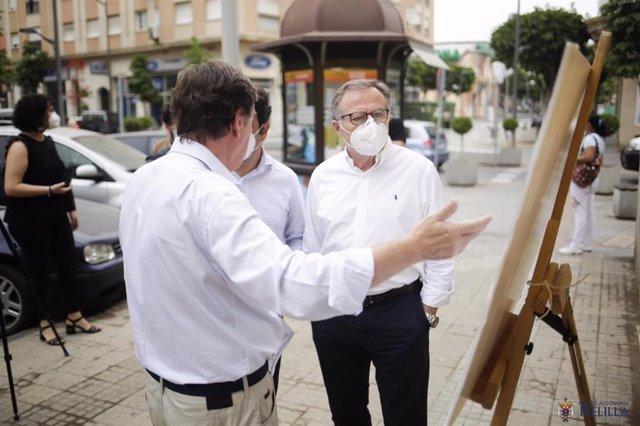 El presidente de Melilla, Eduardo de Castro, en un acto público