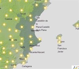 El temps a la Comunitat Valenciana, dimecres 1 de juliol de 2020.