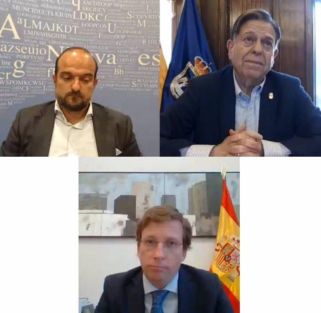 Encuentro digital entre los alcaldes de Oviedo y Madrid, Alfredo Canteli y José Luis Martínez Almeida.