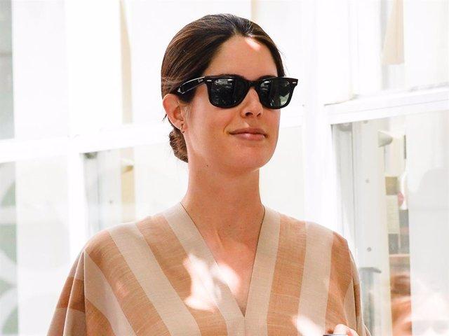 Sofía Palazuelo, radiante, de compras en la recta final de su embarazo