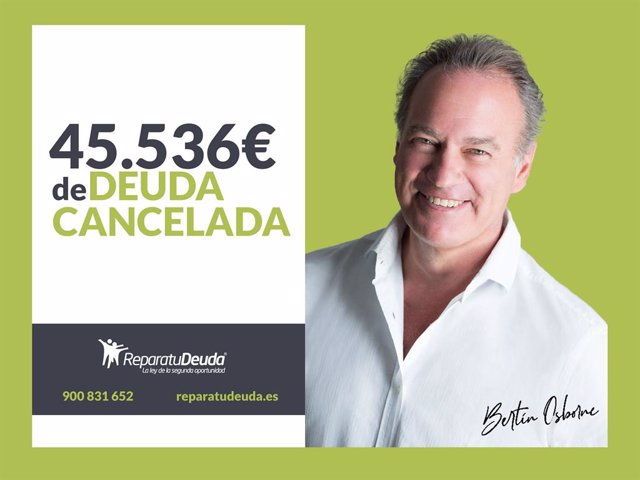 COMUNICADO: Repara tu deuda cancela 45.536 € incluidos fiadores en Barcelona con