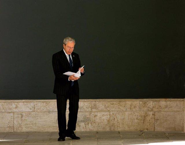 El consejero de Economía, Rogelio Velasco, en una imagen de archivo del 9 de marzo en el Palacio de San Telmo.