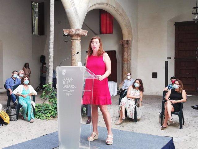 La presidenta del Govern, Francina Armengol, en el acto de firma del Pacto de Reactivación de Baleares.