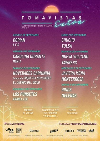 Nace Tomavistas Extra: ocho noches de música para el mes de septiembre al aire libre en Madrid