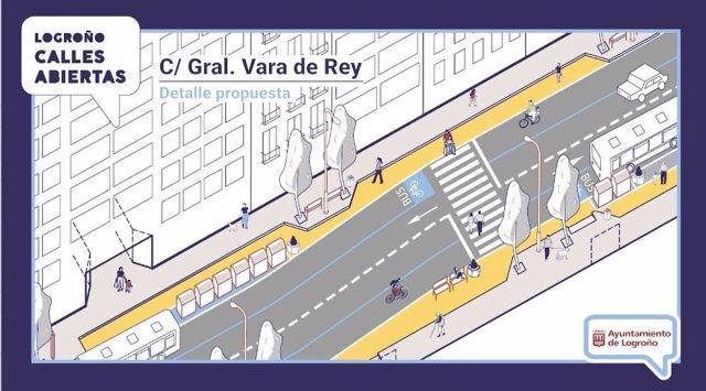 Vara de Rey ganará espacio para los peatones, con actuaciones desde la próxima semana