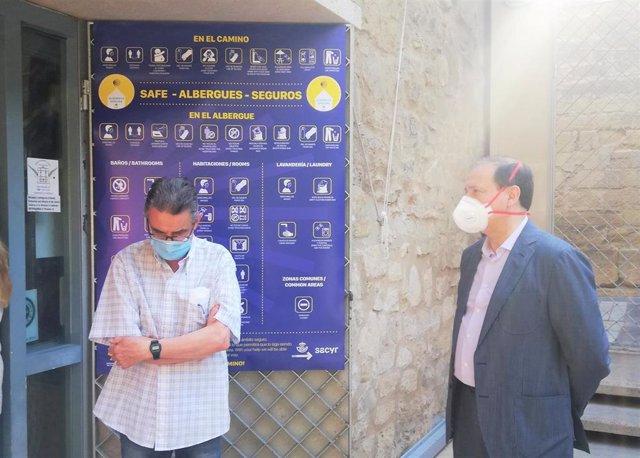 El albergue de Logroño reabre sus puertas, como otros 140 en todo el Camino, dentro de la campaña 'Albergue seguro'.