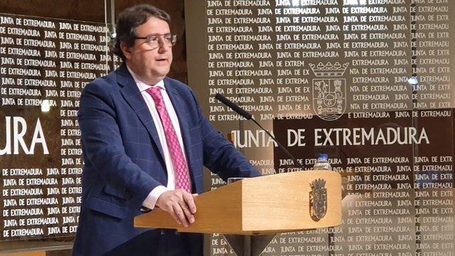 José María Vergeles, en rueda de prensa.
