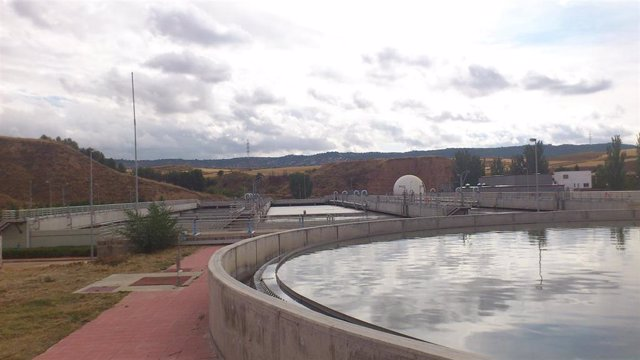 Estación depuradora de aguas residuales.