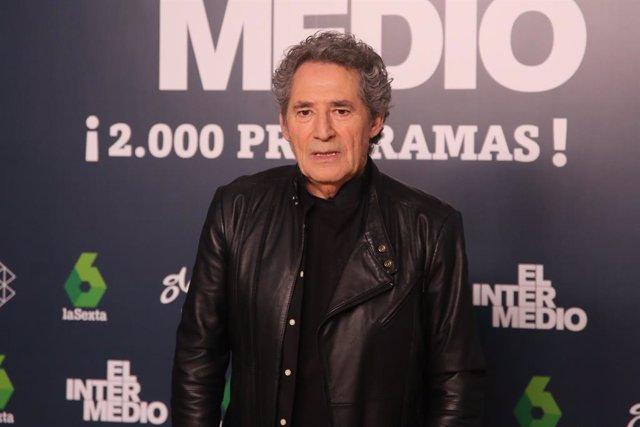 """El cantante, Miguel Ríos, asiste a la fiesta """"2.000 programas de El Intermedio"""""""