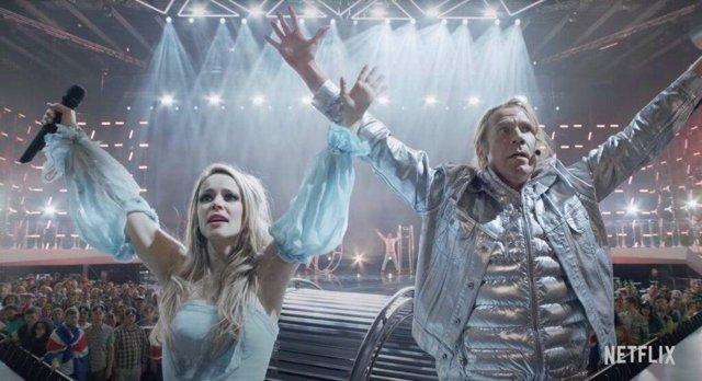 Rachel McAdams y Will Ferrell en  Festival de la canción de Eurovisión: La historia de Fire Saga