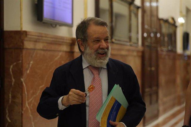 El Defensor del Pueblo en funciones, Francisco Fernández Marugán, en su reciente comparecencia en el Congreso