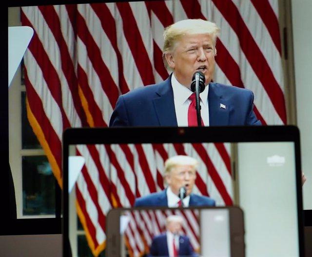 EEUU.-Trump critica a De Blasio y dice que pintar 'Las Vidas Negras Importan' en