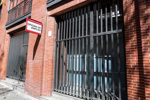 Oficina d'Ocupació tancada. Madrid (Espanya), 2 d'abril del 2020.