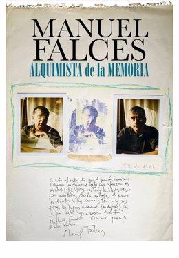 Cartel de la exposición 'Manuel Falces. Alquimista de la memoria'