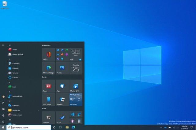 Microsoft muestra el nuevo diseño del menú de Windows: fondo unificado y disponi