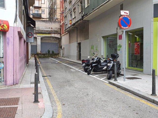 Aparcamiento para motos en la calle Moctezuma
