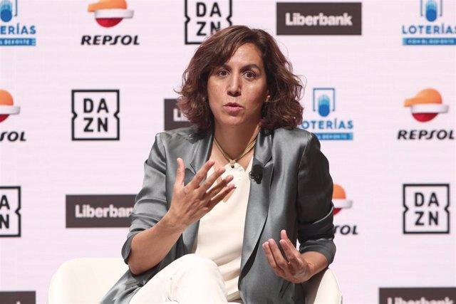 Irene Lozano en los Desayunos Deportivos de Europa Press