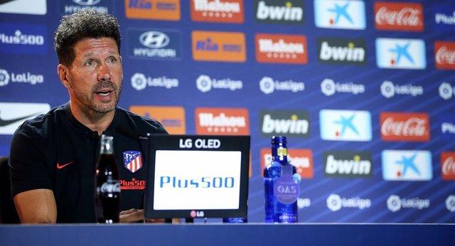 """Fútbol.- Simeone: """"En el Atlético 3 minutos son determinantes, perdimos una 'Cha"""