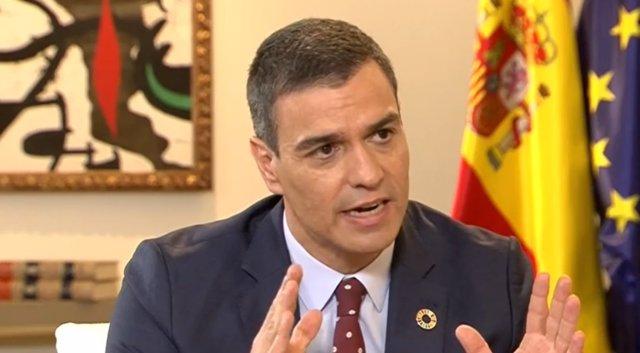 Entrevista al presidente del Gobierno, Pedro Sánchez