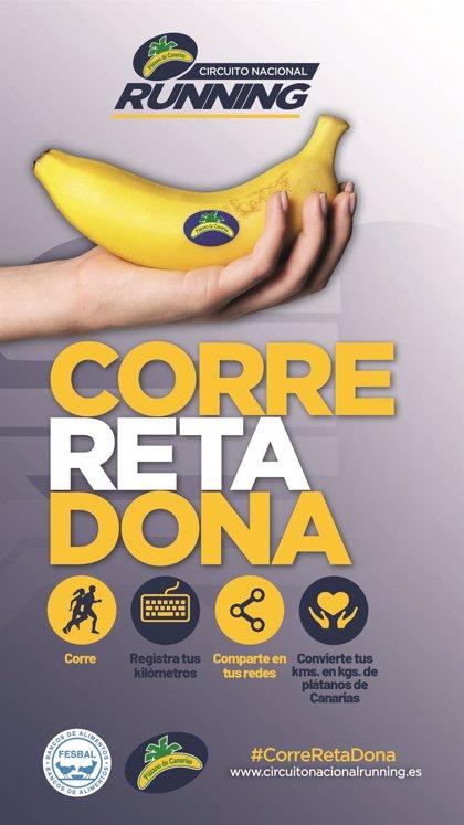 El Circuito Nacional de Running 'Plátano de Canarias' lanza el reto #CorreRetaDona