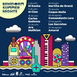 Cartel del Benidorm Summer Nights.