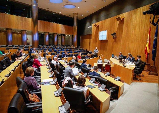 Vista general de la Comisión para la Reconstrucción Social y Económica con la comparecencia del gobernador del Banco de España, Pablo Hernández de Cos