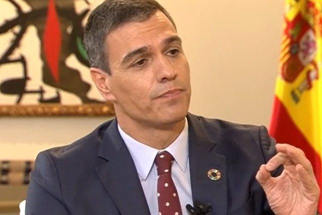 Pedro Sánchez, durante la entrevista en la Sexta.