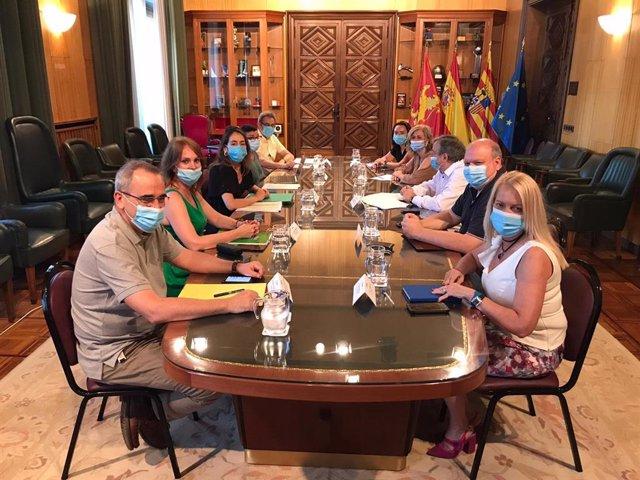 Reunión con UPTA y ATA sobre los microcréditos del Ayuntamiento de Zaragoza