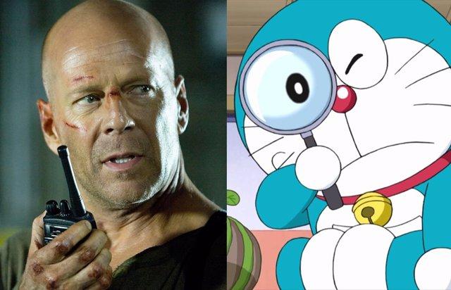 Bruce Willis es Doraemon en el anuncio japonés sobre el 5G más bizarro que verás jamás