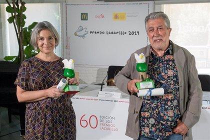 Jordi Serra i Fabra y Carmen López, ganadores de los Premios Lazarillo 2019