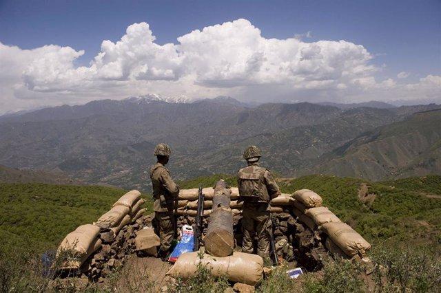 Soldados de Pakistán en el valle del Swat