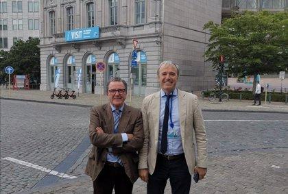 Azcón se reúne con el director de la Oficina del Gobierno de Aragón en Bruselas