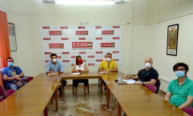 Reunión sobre Citrosuco y Zumos Palma en la sede de CCOO Córdoba, en una imagen de archivo.