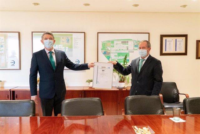 Acto de entrega de la certificación de Aenor a Acerinox