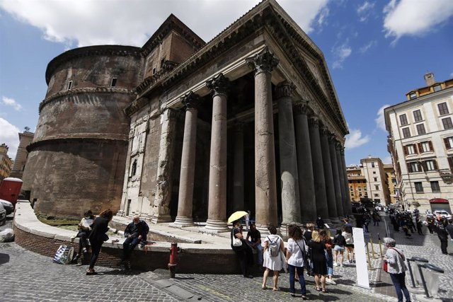 Vista de Roma durante la pandemia de coronavirus
