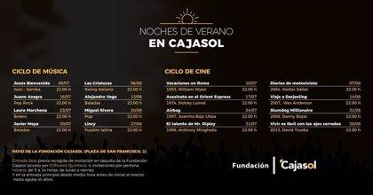 La Fundación Cajasol pone en marcha su programa cultural para este verano en Sevilla