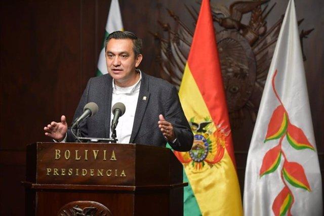 El ministro de la Presidencia de Bolivia, Yerko Núñez.