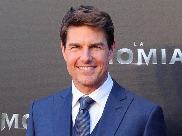 """Tom Cruise, durante su última visita a nuestro país para presentar la película """"La momia"""""""
