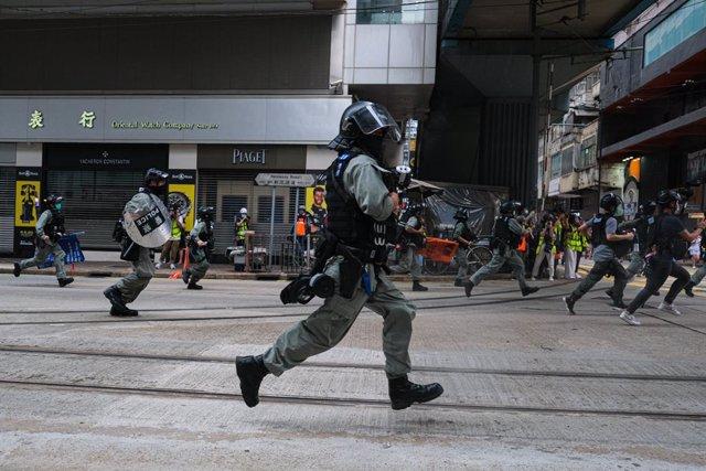 Manifestacions a Hong Kong.