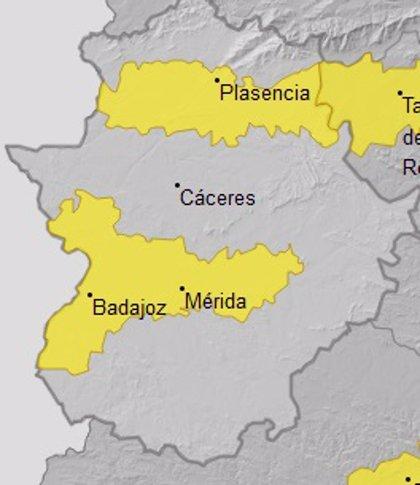 Las Vegas del Guadiana y las de Tajo y Alagón permanecerán este viernes en alerta amarilla por altas temperaturas